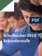 Schulbuchverzeichnis Sekundar 2010
