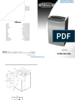 Fellowes Paper Shredder Parts Manual