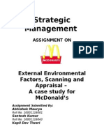 Strategic Management- McDonalds (1)
