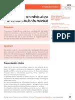 Rabdomiolisis secundaria al uso de electroestimulación muscular