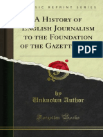 A history of english journalism to the foundation of the gazzette