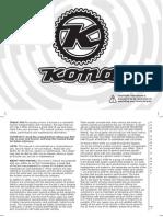 2k12 Owners Manual