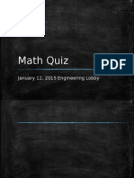 Math Quiz Bee