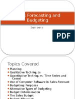 Sales Forecasting and Budgeting