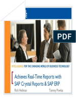 0301 Achieve Real-Time Financial and Operational Reporting With SAP Crystal Reports 2011 and SAP ERP