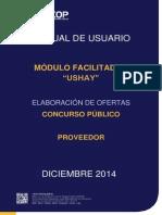 Manual USHAY - Ofertas - Consultoría Concurso Público - Proveedor
