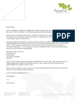 First Aid Letter