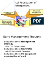 Historical Foundation of Management -Ch01