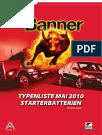 Banner Typenliste Starterbatterien 2010 De