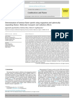 Determination of laminar flame speeds using stagnation and spherically expanding flames Molecular transport and radiation effects.pdf
