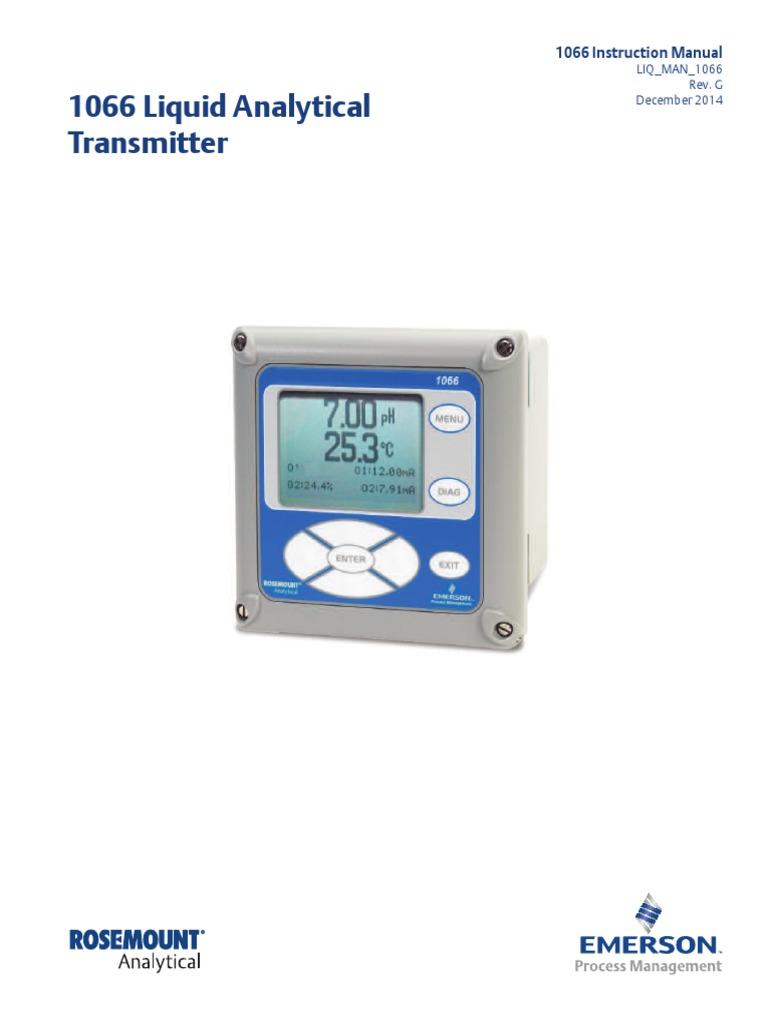 Rosemount Ph Probe Wiring Diagram Karmashares Llc Leveraging Manual Tranmisor Emerson 1066 Calibration Sensor 389 At