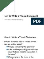 thesis and p e e l