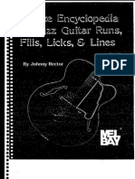 15937 Deluxe Encyclopedia of Jazz Guitar Runs Fills Licks Lines
