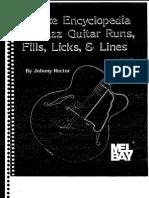 15937 Deluxe Encyclopedia of Jazz Guitar Runs Fills Licks Lines