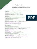 Teoría de Muestreo y Cotización en  Matlab