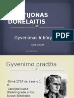 1 K. Donelaitis