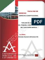 Analisis de La Sentencia Del Tribunal Constitucional Del Caso Karen Mañuca