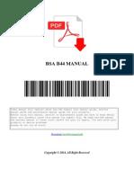 Bsa b44 Manual