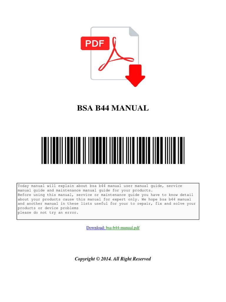 Bsa b44 manual motorcycling wheeled vehicles asfbconference2016 Gallery