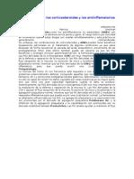 Interacciones de Los Corticosteroides y Los Antiinflamatorios No Esteroideos