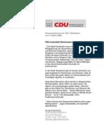 CDU unterstützt Seniorenservicebüro