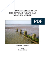 The 1290 Massacre of the Jews at Jury's Gap Romney Marsh 2nd Edition