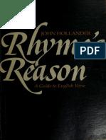 7b72cf2759 John Hollander - Rhyme s Reason - A Guide to English Verse