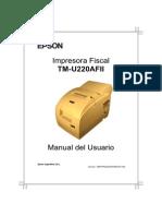 Manual de Usuario - Controladora Fiscal - Epson TM U220