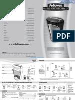 Fellowes Powershred DS-1 Paper Shredder - 3011001 manual
