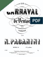 Paganini - Il Carnevale Di Venezia