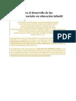 9 Pautas Para El Desarrollo de Las Habilidades Sociales en Educación Infantil HABILIDADES SOCIALES
