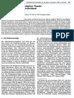 Individualisierung Und Religiöser Wandel in der BRD