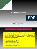 The Computing vs IT Debate