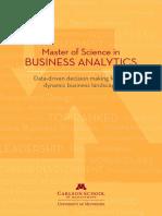 Carlson School MS in Business Analytics Brochure 2014