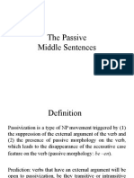 The Passive Middle Sentences