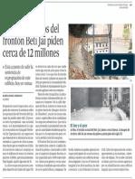 Los propietarios del Beti-Jai piden cerca de 12 millones (ABC Madrid - 25/01/2015)