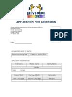 01 Admission Application Form