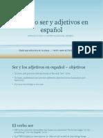 e1 el verbo ser y adjetivos en espaol 1b