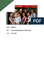 4 PMI PMP Actual Tests 001