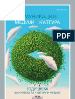 Proceedings of Faculty for Culture and Media, Megatrend University, Belgrade
