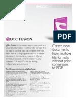 gDoc Fusion Datasheet