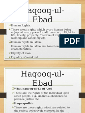 haqooq-ul-ibad ppt | Muhammad | Religious Belief And Doctrine