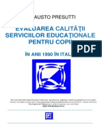 RO Evaluarea Calitatii Pt Copii Italia Anii 1990