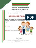 El Reto de La Orientación Familiar en Los Centros Educativos