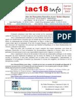 Lettre Attac 18 Info Janvier Février 2015