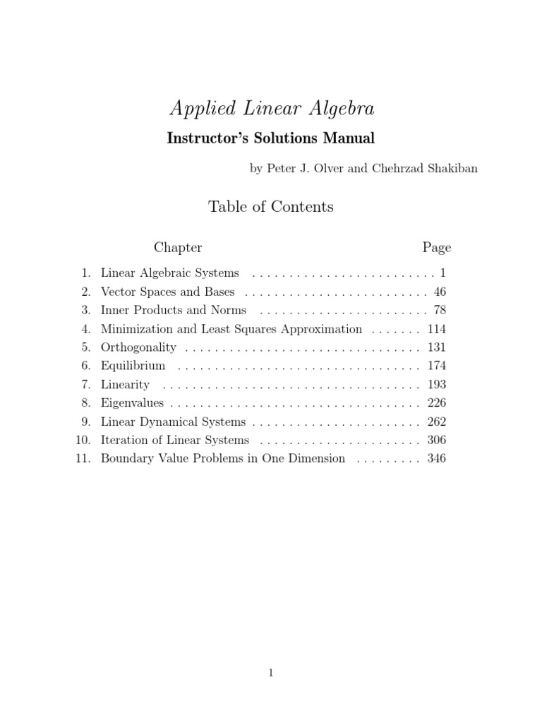 Linear Algebra Solution Manual by Peter Olver | Integrated Truss Structure  | Matrix (Mathematics)