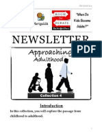 unit 4 - approaching adulthood newsletter