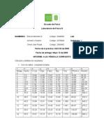 Informe de Pendulo Compuesto