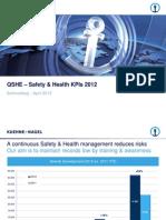 QSHE - Safety Health KPI 2013