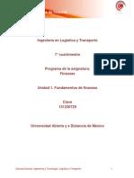 Unidad 1. Fundamentos de Finanzas